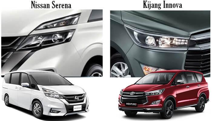 Komparasi Nissan Serena vs Toyota Kijang Innova 2019 Berdasarkan Poto